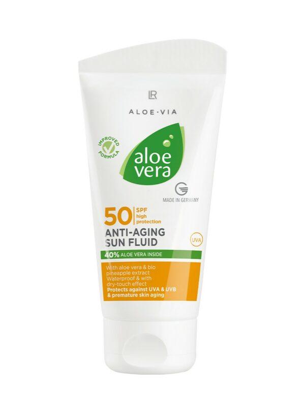 Aloe Vera Anti-Aging Flydende Solcreme Faktor 50