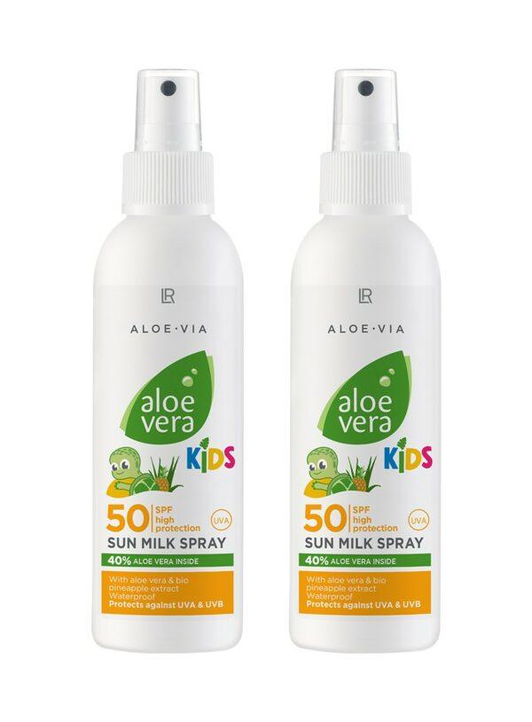Aloe Vera Børne Solspray Faktor 50 2-Pak